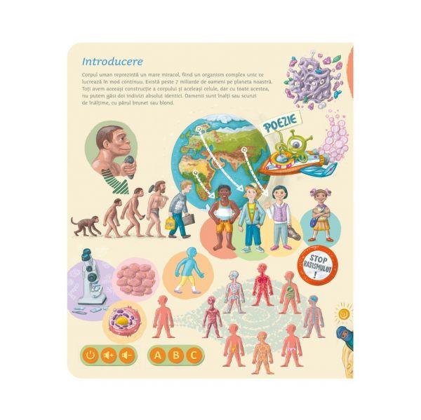 RASPUNDEL ISTETEL Carte interactiva Corpul Uman